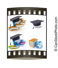 Global Education. The film strip - Global Education on a...