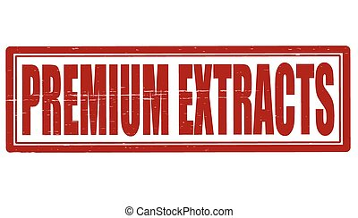 Premium extracts - Stamp with text premium extracts inside,...