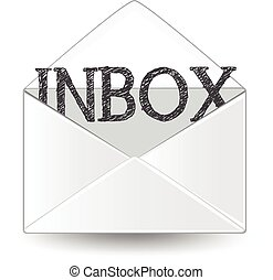 Inbox - An inbox envelope.
