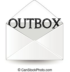 Outbox - An outbox envelope.