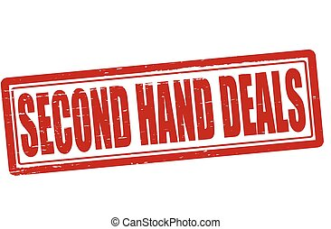 Second hand deals - Stamp with text second hand deals...