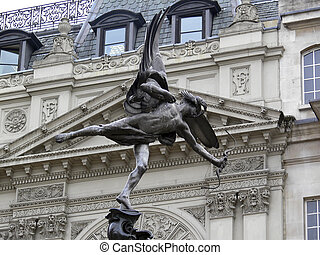 London Piccadilly - eros statue in piccadilly circus...