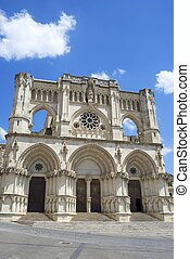 Cuenca Cathedral - Exterior View of the Cathedral of Cuenca,...