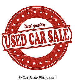 Used car sale - Stamp with text used car sale inside, vector...