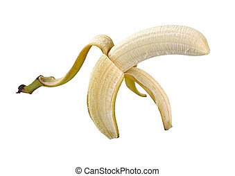Banana Peel isolated with clipping path - Banana Peel...