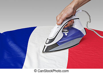 smooth out the wrinkles of Flag-FR - Steam iron for smooth...