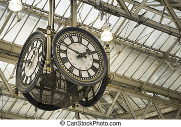 Clock at Waterloo station - Iconic clock at Waterloo...