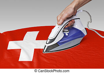 smooth out the wrinkles of Flag-Switzerland - Steam iron for...