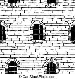 Seamless brick wall.