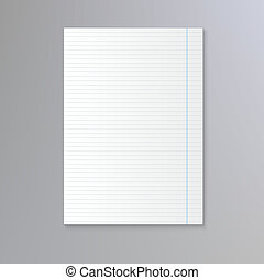 Sheet of lined paper notebook paper background