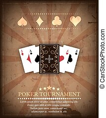 Poker tournament vector background