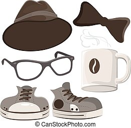 Set hipster accessories
