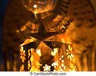 Nativity Star of Bethlehem Christmas Decoration Golden...