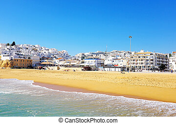 The village Albufeira in the Algarve Portugal