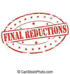 Final reductions - Rubber stamp with text final reductions...
