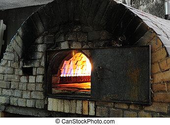 ladrillo, horno