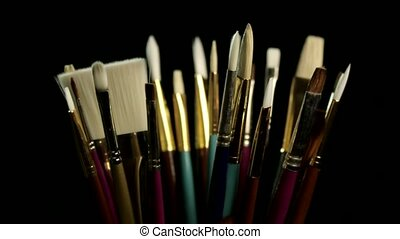 Artists paintbrushes - Mix of various different types and...