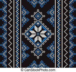 Set of Ethnic ornament pattern in different colors. Vector...