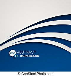 Abstract blue wave background. Vector illustration