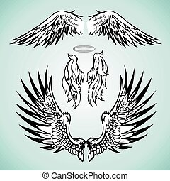 a set of angel wings image