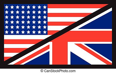 american uk flag - usa and uk flags