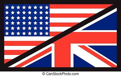 american uk flag - usa and uk flags