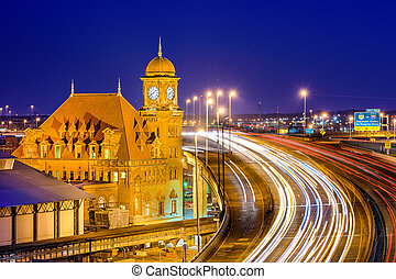 Richmond Virginia Old Main Station - Richmond, Virgina, USA...