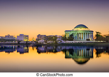 DC SKyline - Washington, DC at the Tidal Basin
