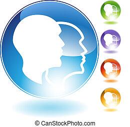 Schizophrenia Crystal Icon - Schizophrenia crystal icon...
