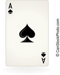 Ace Of Spades - An isolated ace of spades playing card
