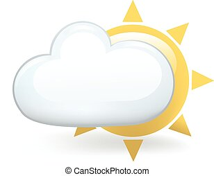 Partly Cloudy - Cloud over the sun.