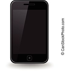 Smart Phone - An isolated smart phone.