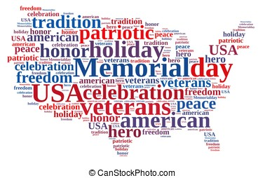 Memorial day - Illustration with word cloud about Memorial...