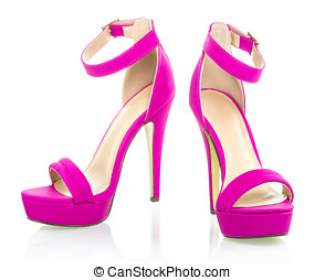 Fashionable High Heels Shoe in pink, XXXL image - high heels...