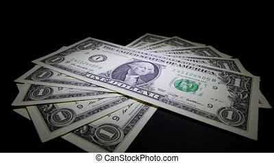 HD - Money US Dollar Banknotes Dolly Shot