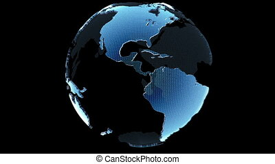 Globe Loop Rotation - Three dimensional Globe loop rotation...