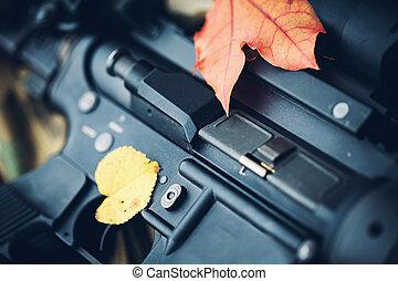 costume, construir, AR-15, (M4A1), carbine, ligado, Um,...