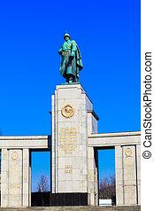 Soviet War Memorial in Berlin Tiergarten, Germany.  Monument Of Soviet Soldiers