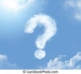 Flossy cloudlet in the shape of question mark - Flossy...