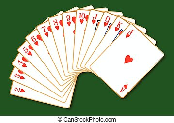 Hearts Suit - The playing card in the suit of Hearts