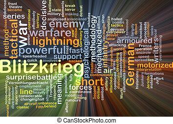Blitzkrieg background concept glowing - Background concept...