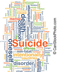 Suicide background concept - Background concept wordcloud...