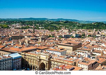 Florence, Italy. Piazza della Repubblica