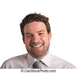Optimist businessman - Portrait of a businessman smiling and...
