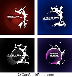 Abstract logo - A logotype is underlining text, bright...