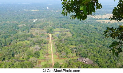 Sigiriya garden in Sri Lanka - view from rock - Sigiriya...
