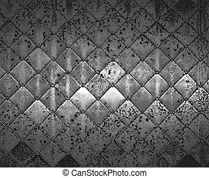 old scratched metal texture with shaded edges