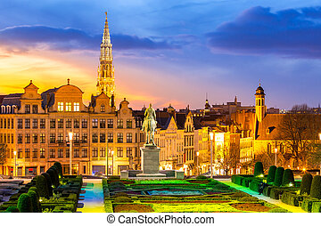 Brussels Cityscape Belgium - Brussels Cityscape from Monts...