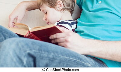 dad and son spending time together - Read for me Vertical...