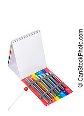 Xylophone with notepad - Picture of colorful toy xylophone...